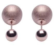 Double Dots Matte Silver/Rose Ohrringe 11165