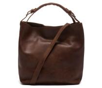 Trend Medium Hand Buffed Leather Brown Schultertasche 2320100093028-M