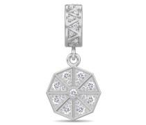 Jennifer Lopez Collection White Infinity Drop Silver Charm 1395