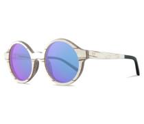 Cornelius Sonnenbrille White Birch/Mirror Blue