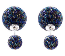 Double Dots Multicolor Dark Mini Spike Ohrringe 11177
