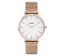La Boheme Mesh Rose Gold/White Uhr CL18112