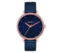 The Kensington Leather Navy/Rose Gold Uhr A108-2195