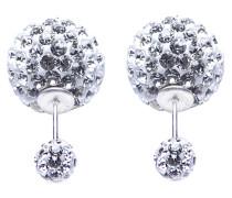 Double Dots White Crystal Ohrringe 11002