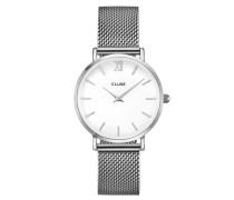 Minuit Mesh Silver/White Uhr CL30009