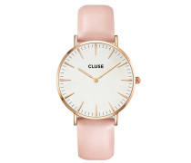 La Boheme Rose Gold White/Pink Uhr CL18014