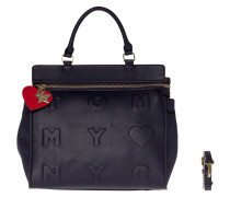 Logo Story Satchel Tommy Navy Schultertasche AW0AW03615413