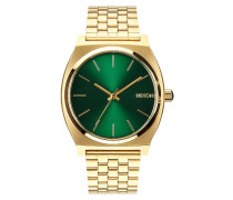 The Time Teller Gold Green Sunray Uhr A0451919