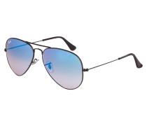 Aviator Sonnenbrille Shiny Black RB3025 002/4O