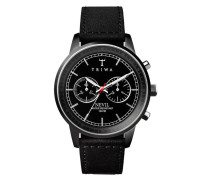 Midnight Nevil Chrono Black Sewn Classic Uhr NEST111