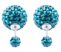 Double Dots Turquoise Crystal Ohrringe 11008