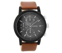 Timepieces Braun/Schwarz Uhr C7804 (45 mm)