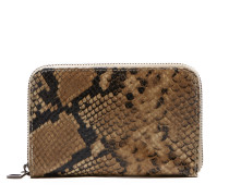 Snake Print Leather Small Taupe portemonnee FBA18.321010006.TAUPE
