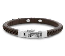 162BR Komang Small Leather Brown Armband