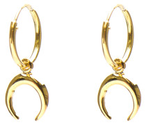 Hoops Symbols Tigertooth Silver Goldplated Ohrringe M1948