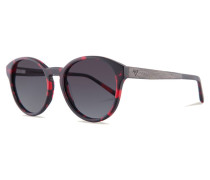 Leopold Sonnenbrille Funky Red/Gradient Grey