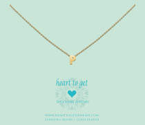 Heart For Initials Letter P Gold Charm L157INP13G