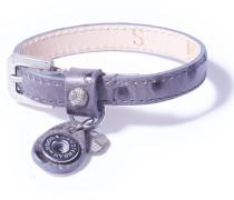 Petite Dot Print Grey Armband WPCS-9078-86-M