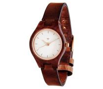 Adelheid Rosewood/Leather Cognac Uhr