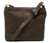 Trend Medium Waxed Grain Leather Olive Brown Umhängetasche 2620200093032-M