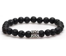 Black Rocks Silver Logo Bead Armband 86305