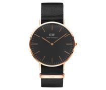 Classic Black Cornwall Uhr DW00100148 ( mm)