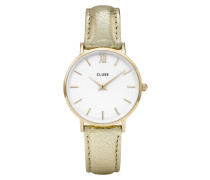 Minuit Gold White/Gold Metallic Uhr CL30036