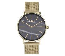 Amelle Gold/Schwarz Uhr AM-03