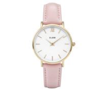 Minuit Mesh Gold White/Pink Uhr CL30020