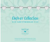 Hearts Choker BO247CHHA17S (Länge: 31-41 cm)