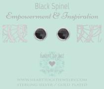 Classics Black Spinel Ohrringe EA220GSB16S