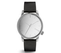 Winston Mirror Silver Black Uhr KOM-W2892