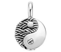 673 Yin Yang Pendant Silver Anhänger