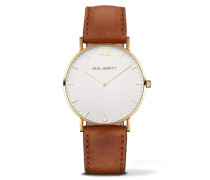 Sailor Line Gold/White Sand Leather Uhr PH-SA-G-ST-W-1S