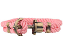 PHREPS Gold/Light Pink Nylon Anchor Armband PH-PH-N-P-L
