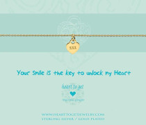 Your Smile Is The Key To Unlock My Heart Gold Armband B278LOH16G