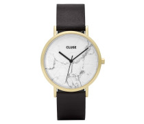 La Roche Gold White Marble/Black Uhr CL40003