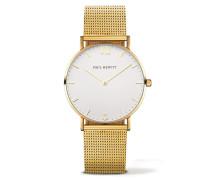 Sailor Line Gold/White Sand Metal Uhr PH-SA-G-ST-W-4M