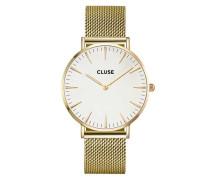 La Boheme Mesh Gold/White Uhr CL18109