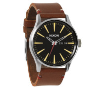 The Sentry Leather Black/Brown Uhr A105019