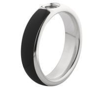 Vivid Resine Ring Black/Stainless Steel