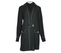 Piped Luxe Minikleid schwarz