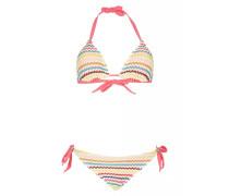 Padded Triangel Bikini mit Häkelverzierung