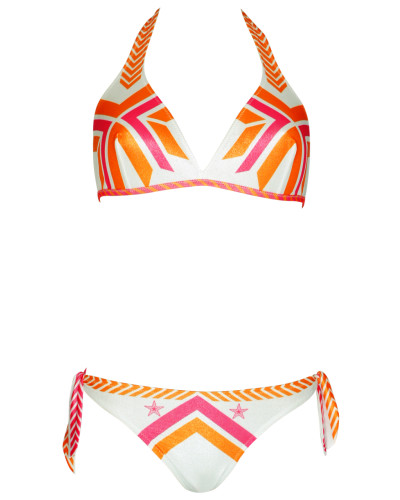 Triangle Bikini Navajo in weiß C/D Cup