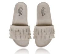 Sandalen aus Leder mit gearbeiteten Fransen im edlen Sandton