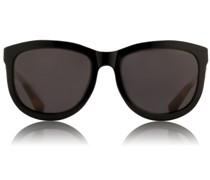 Curvy D-Frame Sonnenbrille ROW 74 Black/ T-Shell/ GRey Lens