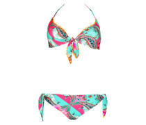 Padded Triangle Bikini im Mustermix C/D Cup