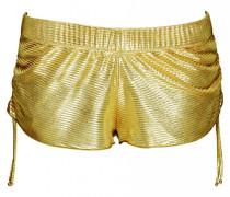 Short im Metallic-Look in gold