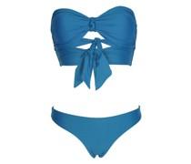 Island Blue Padded Bandeau Bikini
