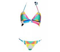 Triangle Bikini zum wenden in Aqua
